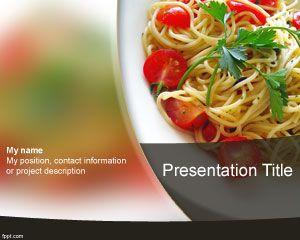 Plantilla PowerPoint de Espaguetis