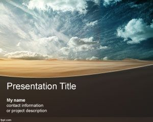 desert powerpoint template with sand free powerpoint
