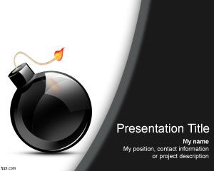Bomb PowerPoint Template PPT Template