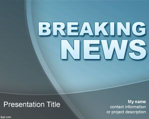 Breaking News PowerPoint Template PPT Template