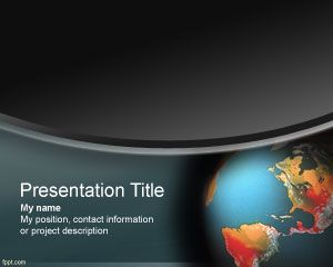 Global Warming PowerPoint Template PPT Template