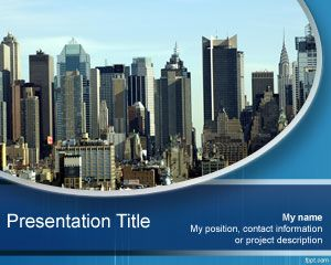 City free powerpoint templates you can use this free city ppt template for presentations on business or travelling around the city this free city powerpoint template is toneelgroepblik Images