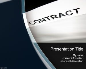 Link toContract powerpoint template