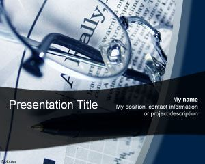 Economics News PowerPoint Template PPT Template