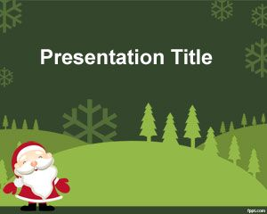 Green Christmas Powerpoint Template Free Download