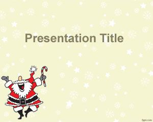 Happy Santa Claus PowerPoint Template PPT Template