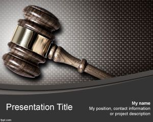 Free Judge PowerPoint Law template with Gavel
