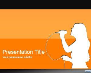 Orange Karaoke PowerPoint Template PPT Template