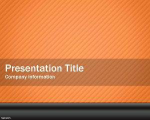 Orange Power PowerPoint Template PPT Template