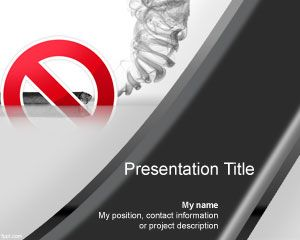 Quit tabacco cigar powerpoint template