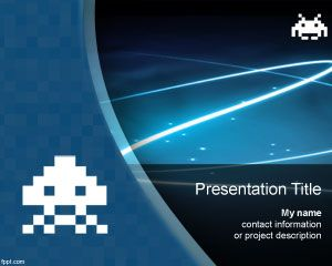 Space invaders PowerPoint Template