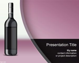 Wine Spectator PowerPoint Template PPT Template
