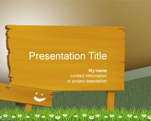 Wood billboard PowerPoint Template PPT Template
