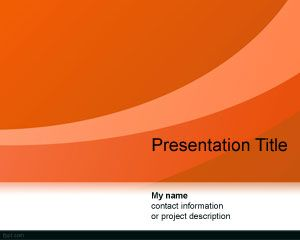 Abstract Curves PowerPoint Template PPT Template
