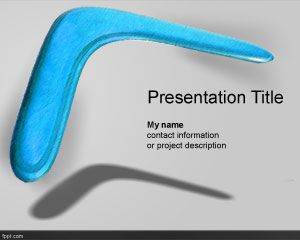 Boomerang PowerPoint Template
