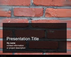 Download free Bricks PowerPoint theme for presentations