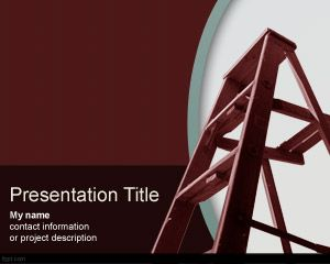 Climbing the ladder PowerPoint Template