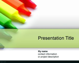 Color Drypen PowerPoint Template PPT Template