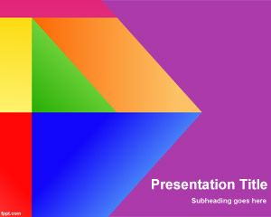 Colors Vitro PowerPoint Template PPT Template