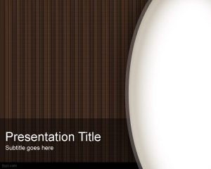 Dark Wood PowerPoint Template