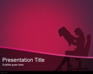 Executive Woman PowerPoint Template PPT Template