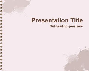 Exercise Book PowerPoint Template