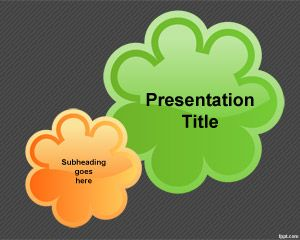 Flower Background PowerPoint Template | Free Powerpoint Templates