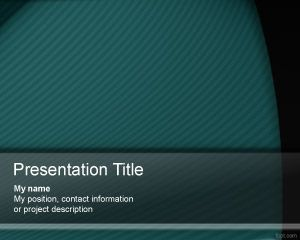 Green PowerPoint Model PPT Template