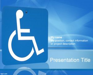handicap background ppt template