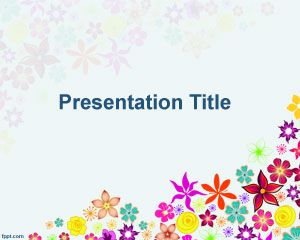 Multi Color Flowers PowerPoint Template