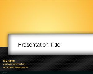 Orange Black PowerPoint Template PPT Template
