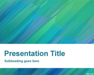 painted powerpoint template