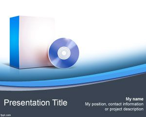 Computer Software PowerPoint Template PPT Template