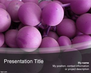 Violet Grape PowerPoint Template PPT Template