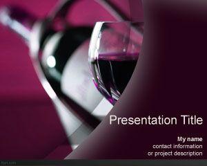 Free Wine bottle PowerPoint template