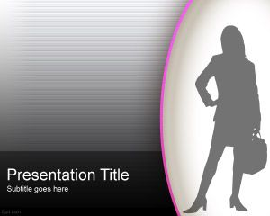 Woman Style PowerPoint Template PPT Template