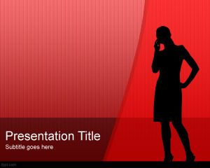 women silhouette powerpoint template