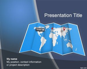 Free world map PowerPoint template