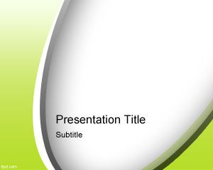 Abstract Green PowerPoint Template PPT Template