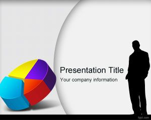 Market research PowerPoint template with Pie Chart and Human Silhouettes