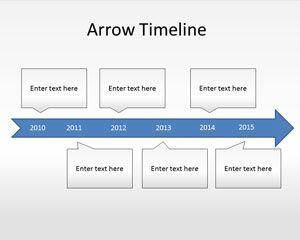 Link toArrow timeline diagram powerpoint template