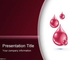 Blood PowerPoint Template PPT Template