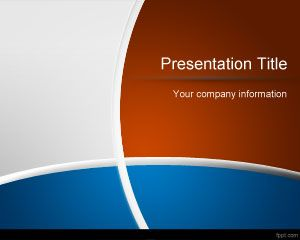 Blue and Brown PowerPoint Template PPT Template