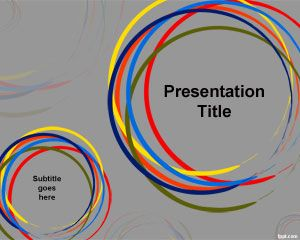 Color Circles PowerPoint Template PPT Template
