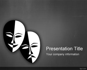 Drama Theater PowerPoint Template