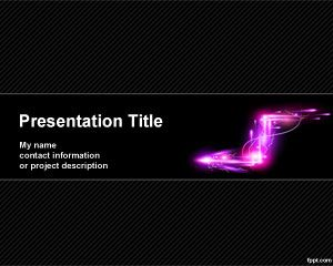 Electric Arrow PowerPoint Template PPT Template