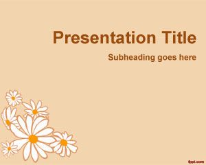Flower Petals PowerPoint Template