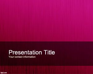 Fucsia Personalized PowerPoint Template PPT Template