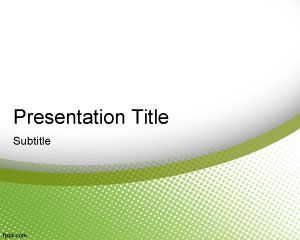 Green Elegance PowerPoint Template PPT Template
