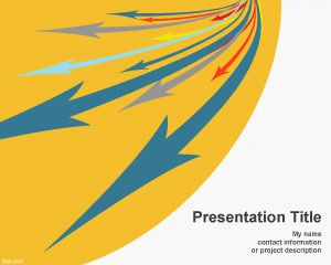 Link toIncoming arrows powerpoint template
